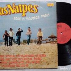 Discos de vinilo: LOS NAIPES - BACK IN MAJORCA AGAIN - LP 1974 - FONAL - FIRMADO??. Lote 196107403