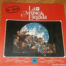 Discos de vinilo: EL JAZZ COLECCION LA MÚSICA ELEGIDA CAJA CON 4 VINILOS LP Y LIBRO 1982. Lote 196118643