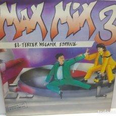 Discos de vinilo: DOBLE LP-MAX MIX 3-EL TERCER MEGAMIX ESPAÑOL EN FUNDA ORIGINAL 1986. Lote 196123476