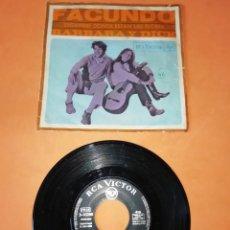 Dischi in vinile: BARBARA Y DICK. FACUNDO. DIGANME DONDE ESTAN LAS FLORES. RCA VICTOR. 1968. Lote 196155947