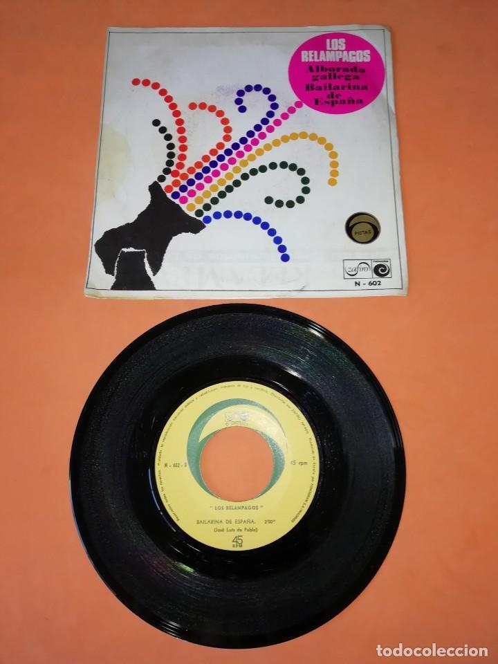 Discos de vinilo: LOS RELAMPAGOS. ALBORADA GALLEGA. BAILARINA DE ESPAÑA. ZAFIRO 6 PISTAS 1966 - Foto 2 - 196158271