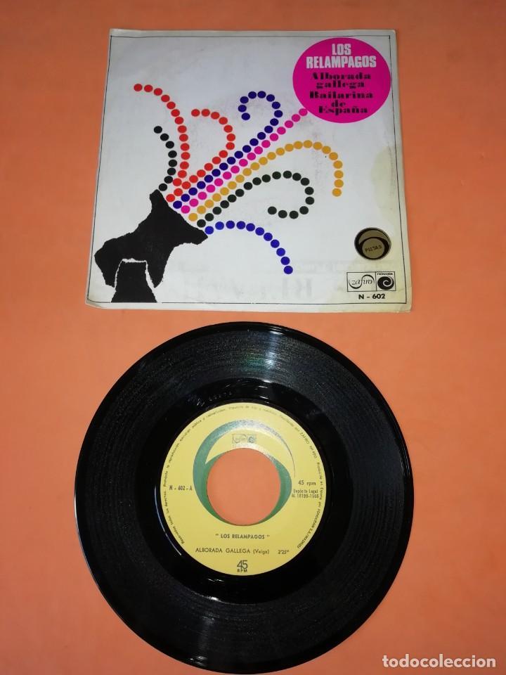 LOS RELAMPAGOS. ALBORADA GALLEGA. BAILARINA DE ESPAÑA. ZAFIRO 6 PISTAS 1966 (Música - Discos - Singles Vinilo - Grupos Españoles 50 y 60)