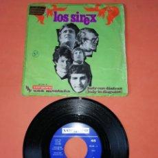 Discos de vinilo: LOS SIREX. HAY UNA MONTAÑA . JUDY CON DISFRAZ. VERGARA RECORDS 1068. Lote 196159370