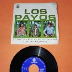 Discos de vinilo: LOS PAYOS. LA PAZ, EL CIELO Y LAS ESTRELLAS. LOS ANTICUARIOS. HISPAVOX 1971. Lote 196160912