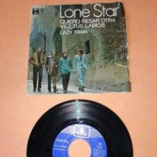 Discos de vinilo: LONE STAR. QUIERO BESAR OTRA VEZ TUS LABIOS. LAZY TRAIN. ODEON RECORDS 1970. Lote 196163466