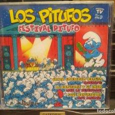 Discos de vinilo: LOS PITUFOS ( FESTIVAL PITUFO ) - 2 CD - 34353 - DIVUCSA - TORERO - BAILA PITUFINA - LIMONADA PEPETO. Lote 196164370