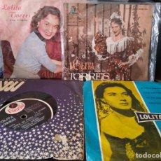 Discos de vinilo: LOLITA TORRES - LOTE DE 4 DISCOS SIMPLES EDITADOS EN ARGENTINA. Lote 196164750