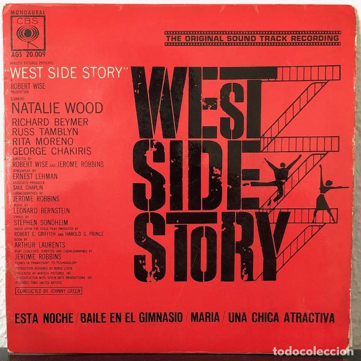 WEST SIDE HISTORY, BANDA SONORA ORIGINAL EP 45 RPM (Música - Discos de Vinilo - EPs - Bandas Sonoras y Actores)