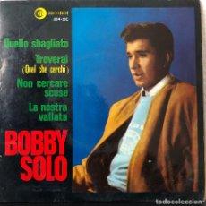 Discos de vinilo: BOBBY SOLO, EP 45 RPM . Lote 196170940