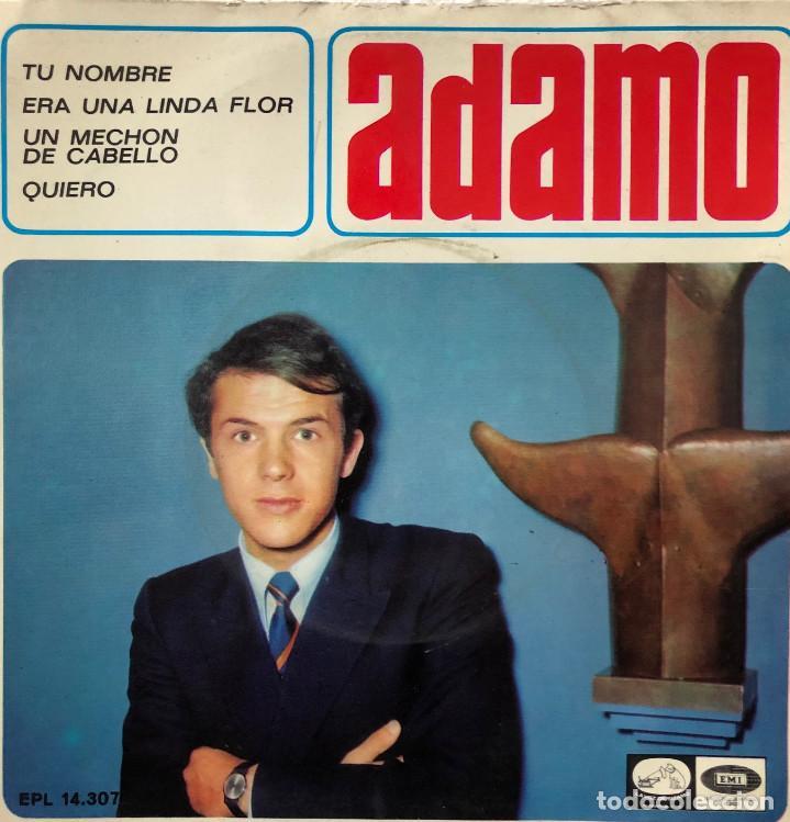 ADAMO EP A 45 RPM (Música - Discos de Vinilo - EPs - Canción Francesa e Italiana)