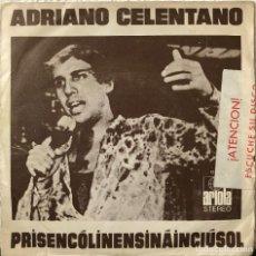 Discos de vinilo: ADRIANO CELENTANO SINGLE A 45 RPM. Lote 196172238