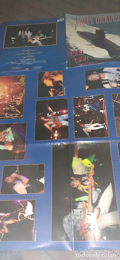 Discos de vinilo: BRUCE DICKINSON Dive!Dive!Live!! 4 temas ,versiones AC/DC,Deep purple,etc - Foto 4 - 196190380