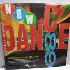 Discos de vinilo: DOBLE LP-NOW DANCE 89-EN FUNDA ORIGINAL AÑO 1989. Lote 196212228