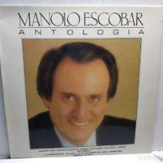 Discos de vinilo: LP-MANOLO ESCOBAR-ANTOLOGIA EN FUNDA ORIGINAL AÑO 1986. Lote 196212701