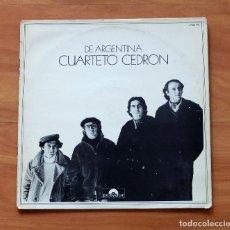 Discos de vinilo: CUARTETO CEDRÓN : DE ARGENTINA- DISCOS POLYDOR. Lote 196213150
