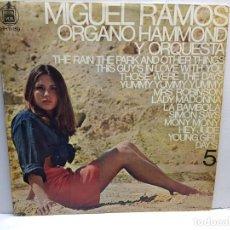 Discos de vinilo: LP-MIGUEL RAMOS-ORGANO HAMMOND Y ORQUESTA EN FUNDA ORIGINAL AÑO 1968. Lote 196242903