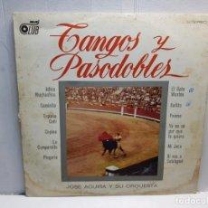 Discos de vinilo: LP-TANGOS Y PASODOBLES-JOSE AGUIRA Y SU ORQUESTA EN FUNDA ORIGINAL AÑO 1973. Lote 196243520