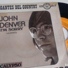 Disques de vinyle: SINGLE ( VINILO) DE JOHN DENVER AÑOS 70. Lote 196246536