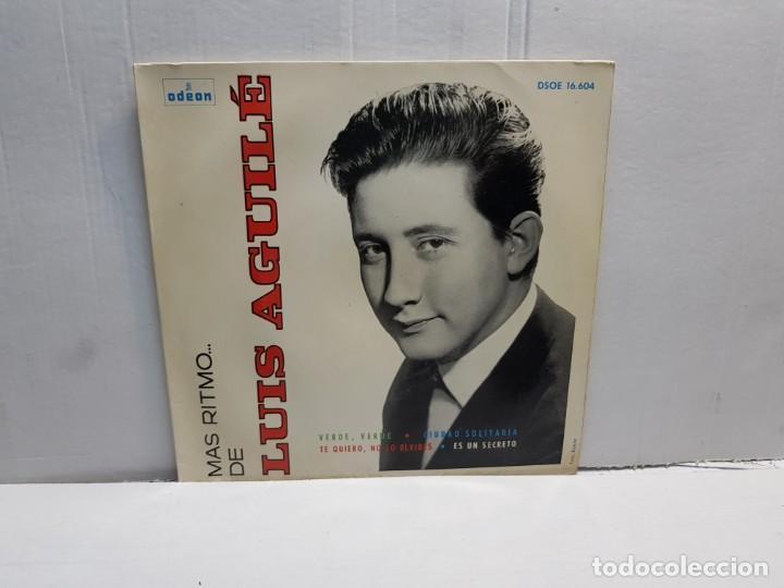 SINGLE-LUIS AGUILE-MAS RITMO EN FUNDA ORIGINAL 1964 (Música - Discos - Singles Vinilo - Solistas Españoles de los 70 a la actualidad)
