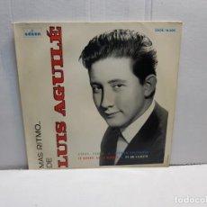 Discos de vinilo: SINGLE-LUIS AGUILE-MAS RITMO EN FUNDA ORIGINAL 1964. Lote 196246741