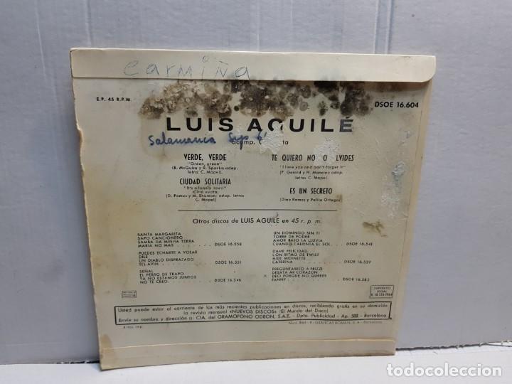 Discos de vinilo: Single-LUIS AGUILE-MAS RITMO en funda original 1964 - Foto 2 - 196246741