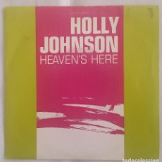 Discos de vinilo: SINGLE / HOLLY JOHNSON / HEAVEN'S HERE / MCA ESPAÑA 1989 PROMO. Lote 196265395