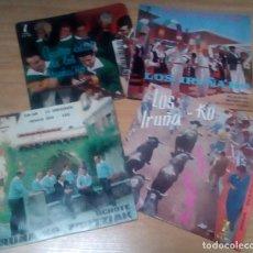 Discos de vinilo: LOS IRUÑAKO - LOTE 4 EPS !! 2 FIRMADOS POR EL GRUPO !! ORG EDT SPAIN, ZAFIRO. Lote 196275186