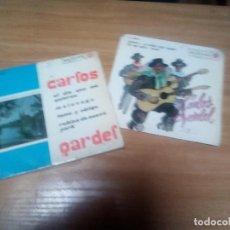 Discos de vinilo: CARLOS GARDEL - LOTE 2 EPS !! !! ORG EDT SPAIN 1962 Y 1965 , RCA VICTOR. Lote 196275602