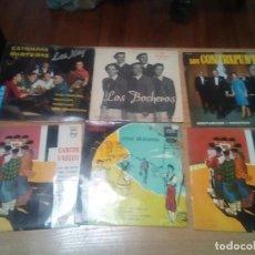 Discos de vinilo: LOS XEY, BOCHEROS,5 BILBAINOS, OCHOTE - LOTE 6 EPS Y SINGLES VASCOS !! !! ORG EDT SPAIN. Lote 196276132