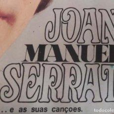 Discos de vinilo: JOAN MANUEL SERRAT (..E AS SUAS CANÇOES) LP 1969 EDICIÓN PORTUGUESA - LONDON SLLG-800. Lote 196279293