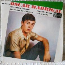 Discos de vinilo: OSCAR MADRIGAL - MI ULTIMO VERANO + 3 - EP EDICION ESPAÑOLA HISPAVOX AÑO 1962 VINILO Y FUNDA NUEVOS. Lote 196290222