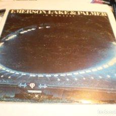 Discos de vinilo: LP EMERSON, LIKE & PALMER IN CONCERT. ARIOLA 1980 SPAIN (PROBADO Y BIEN). Lote 196291992