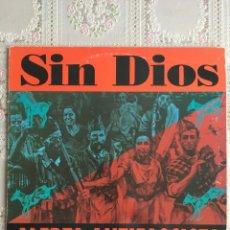Discos de vinil: SIN DIOS. ALERTA ANTIFASCISTA. NI SEXISMO NI RACISMO. LP PUNK 1993 DIFICIL. Lote 196294292