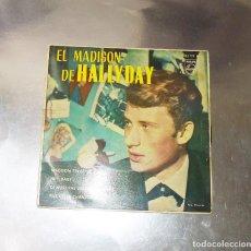 Discos de vinilo: JOHNNY HALLYDAY --MADISON TWIST /& HEY BABY + 2 ---1963 ( VG+ ) ( VG+). Lote 184724912