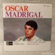 Discos de vinilo: OSCAR MADRIGAL - COSAS + 3 - EP EDICION ESPAÑOLA HISPAVOX AÑO 1963 VINILO Y FUNDA NUEVOS. Lote 196308322