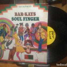 Discos de vinilo: BAR - KAYS SOUL FINGER LP USA 1967 PDELUXE. Lote 196316813