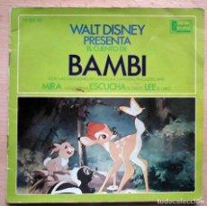 Discos de vinilo: WALT DISNEY DISCOCUENTO BAMBI (AMPARITO GARRIDO) DISNEYLAND 1967. Lote 196320246