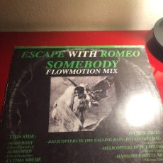 Discos de vinilo: ESCAPE WITH ROMEO – SOMEBODY / HELICOPTERS IN THE FALLING RAIN. Lote 196320250