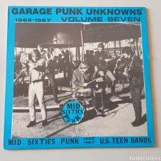 Discos de vinilo: LP GARAGE PUNK UNKNOWNS VOL. 7 (STONE AGE RECORDS, 1986). Lote 196347475