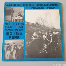 Discos de vinilo: LP GARAGE PUNK UNKNOWNS VOL. 4 (STONE AGE RECORDS, 1985). Lote 196347558