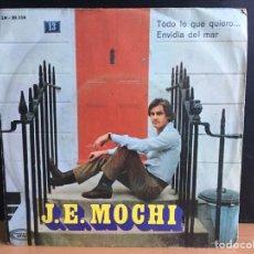 Disques de vinyle: J. E. MOCHI - TODO LO QUE QUIERO / ENVIDIA DEL MAR (SINGLE) (MOVIEPLAY) SN-20.358 (D:VG+). Lote 196355893