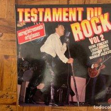 Discos de vinilo: TESTAMENT DU ROCK VOL 2 LABEL: MUSIC FOR PLEASURE – 2M046 81743 LP +. Lote 196356788