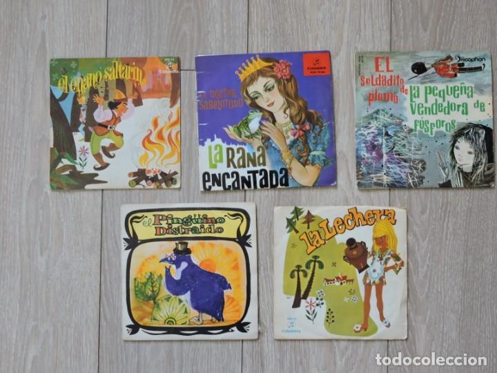 5 VINILOS SINGLES - CUENTOS INFANTILES (Música - Discos - Singles Vinilo - Música Infantil)