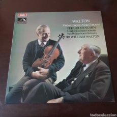 Discos de vinilo: WALTON - VIOLIN VIOLA CONCIERTO - YEHUDI MENUHIN - LONDON SYMPHONY ORCHESTRA - SIR WILLIAM WALTON. Lote 196364961