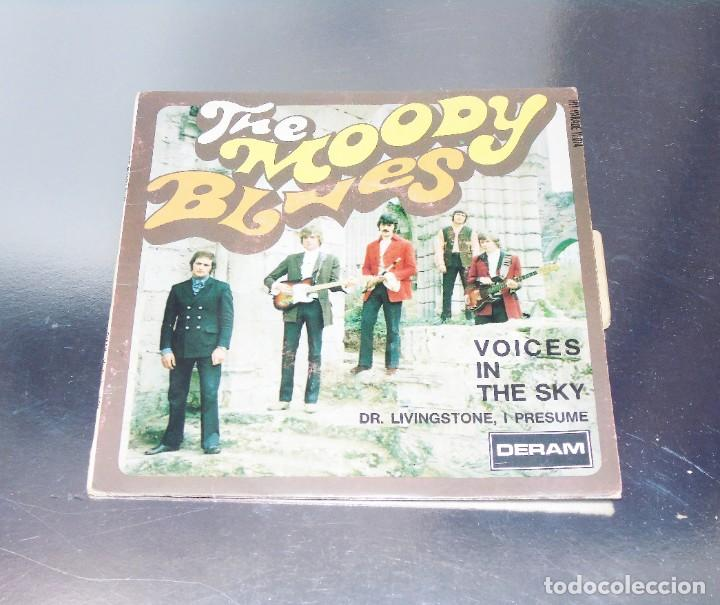 THE MOODY BLUES ---VOICES IN THE SKY & DR. LIVINGSTONES, I PRESUME - EDICION AÑO 1968 VG++ (Música - Discos - Singles Vinilo - Pop - Rock Internacional de los 50 y 60)