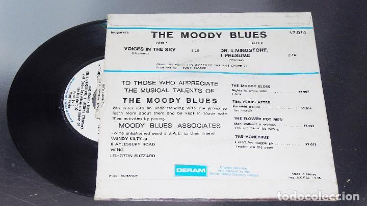 Discos de vinilo: THE MOODY BLUES ---VOICES IN THE SKY & DR. LIVINGSTONES, I PRESUME - EDICION AÑO 1968 VG++ - Foto 2 - 196368731