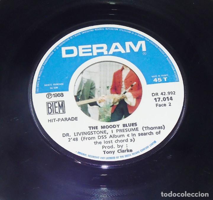 Discos de vinilo: THE MOODY BLUES ---VOICES IN THE SKY & DR. LIVINGSTONES, I PRESUME - EDICION AÑO 1968 VG++ - Foto 6 - 196368731