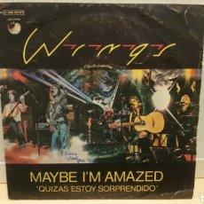 Discos de vinilo: WINGS - MAYBE I'M AMAZED. SINGLE VINILO EDICIÓN ESPAÑOLA DE 1977. Lote 196370687