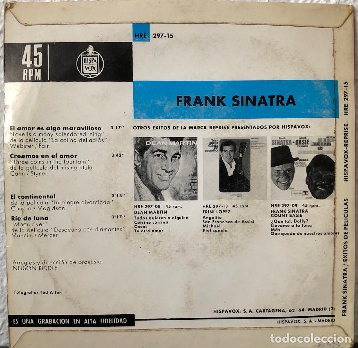 Discos de vinilo: FRANK SINATRA, EP Éxitos de Peliculas - Foto 2 - 196372827
