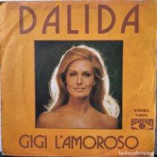 Discos de vinilo: DALIDA, SINGLE 45 RPM GIGI L'AMOROSO. Lote 196377743
